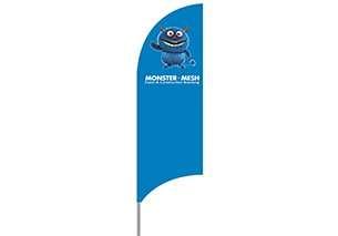 Med Alu Flag – 335cm Shark