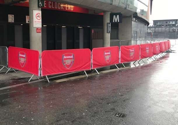Printed crowd barrier cover