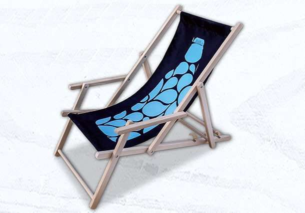 classic branded deck chair