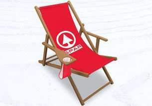 comfort deckchair with drinks holder