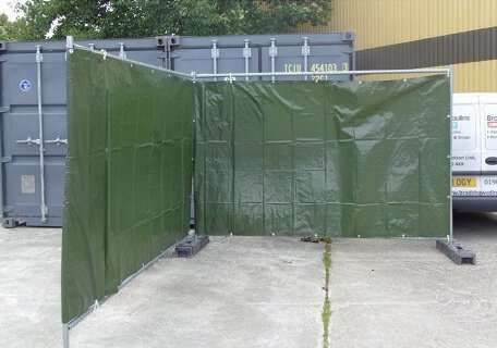 Fence tarpaulin green