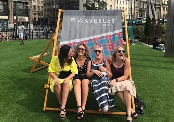 Giant deckchair printed