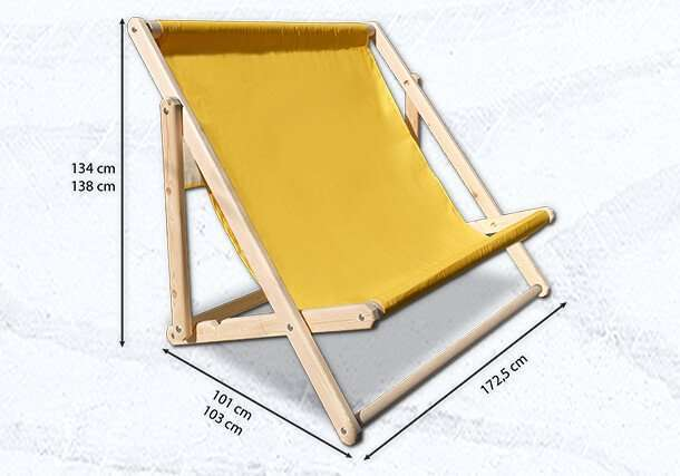 Large Giant Deckchair