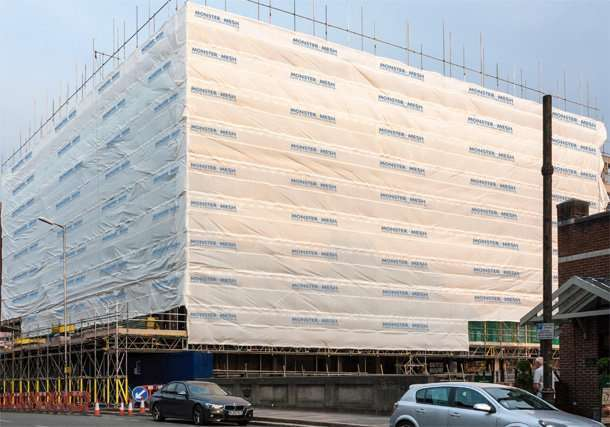 printed scaffold sheeting 610 x 427 A